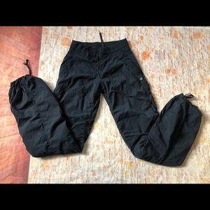 Lululemon dance studio pants lined black Sz 4